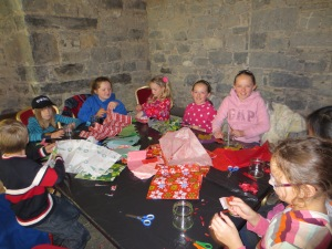 Fun making lantern jars in Kilkenny Castle