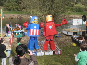 Simon O'Dea and Roy Murray as Lego Super-heroes
