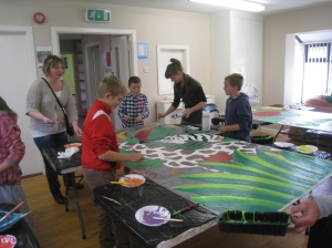 Painting the jungle in Trim Family Resource Centre